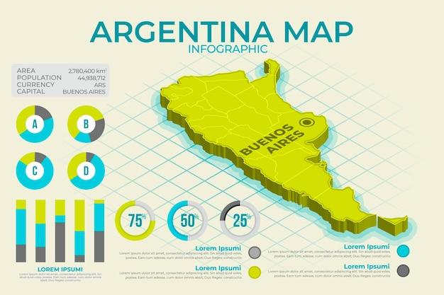 Plansza Mapy Izometryczny Argentyny Darmowych Wektorów