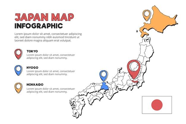 Plansza Mapy Japonii Premium Wektorów