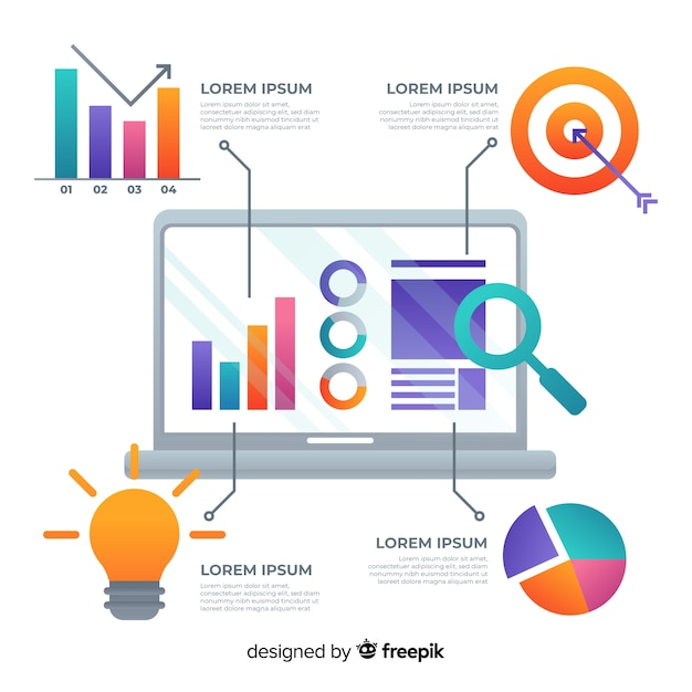 Plansza marketingu cyfrowego Darmowych Wektorów