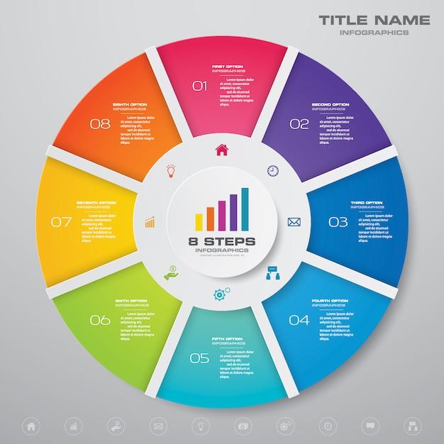 Plansza Wykresu Cyklu. Premium Wektorów