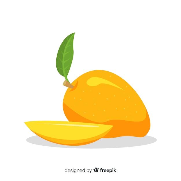 Płaska ilustracja mango Darmowych Wektorów
