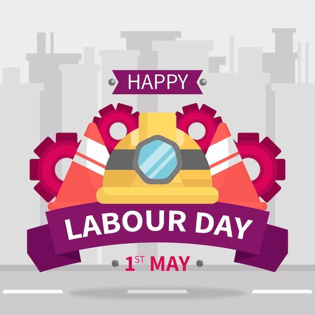 Płaska Impreza święto Pracy Darmowych Wektorów