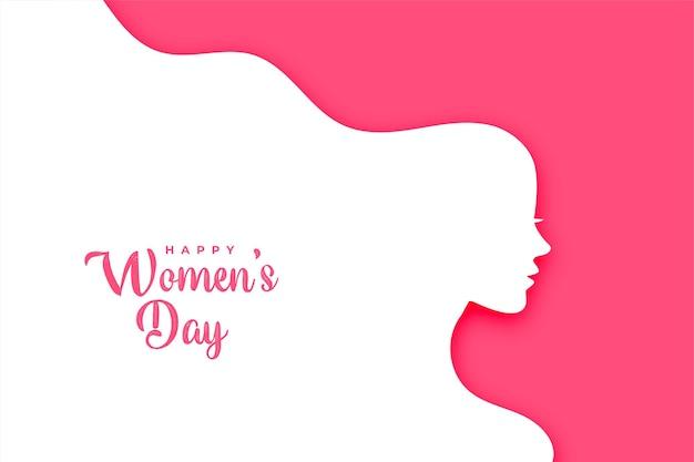 Płaska Karta Kreatywnych Szczęśliwy Dzień Kobiet Darmowych Wektorów