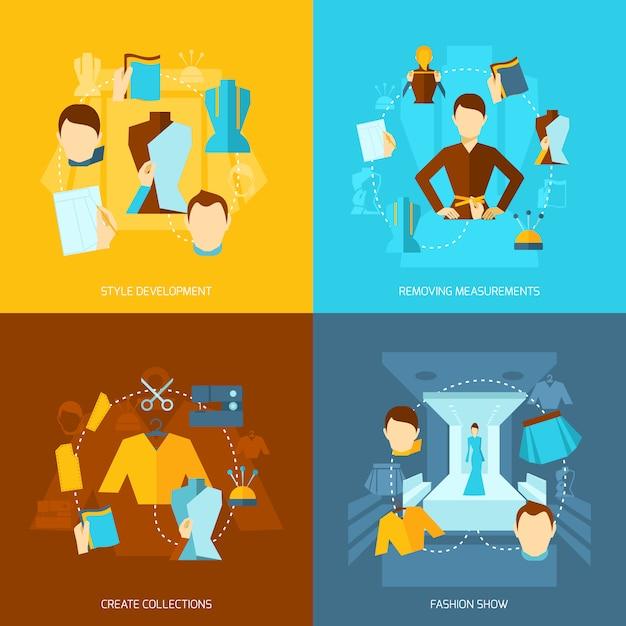 Płaska Kompozycja Elementów Ubrania Projektanta Darmowych Wektorów
