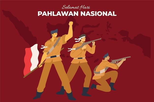 Płaska Koncepcja Pahlawan Darmowych Wektorów