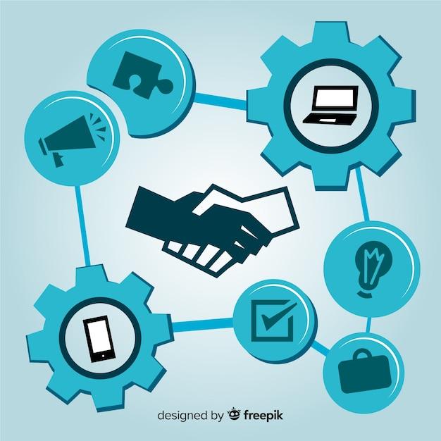 Płaska koncepcja transakcji biznesowych Darmowych Wektorów