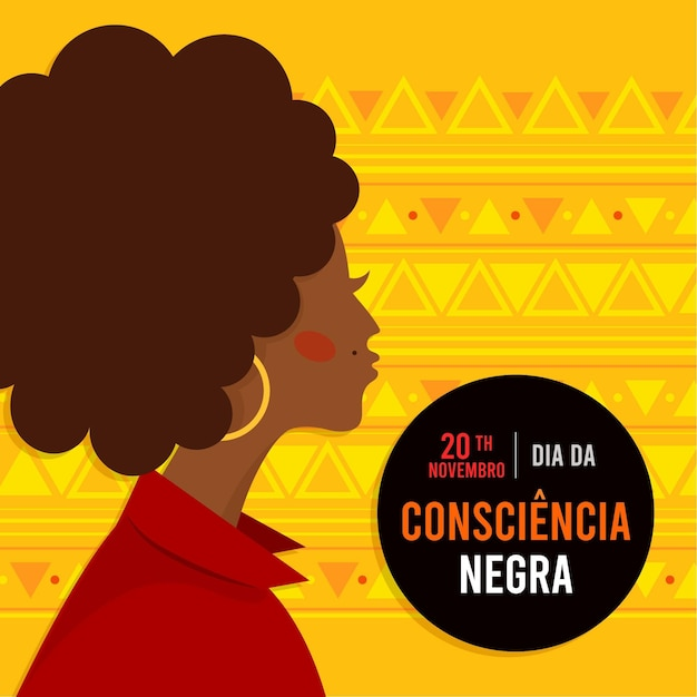 Płaska Konstrukcja Dzień Consiencia Negra Darmowych Wektorów