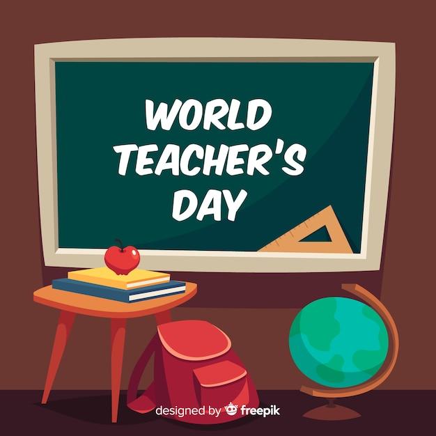 Płaska konstrukcja dzień nauczycieli Darmowych Wektorów