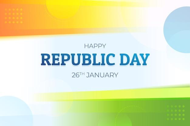 Płaska Konstrukcja Dzień Republiki Indii Premium Wektorów
