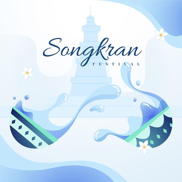 Płaska Konstrukcja Festiwalu Songkran Darmowych Wektorów