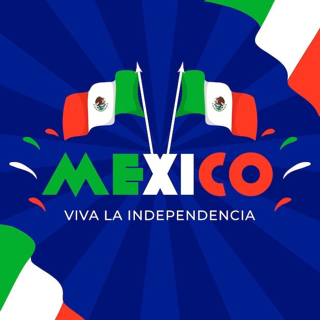Płaska Konstrukcja Flagi Międzynarodowego Dnia Meksyku Darmowych Wektorów