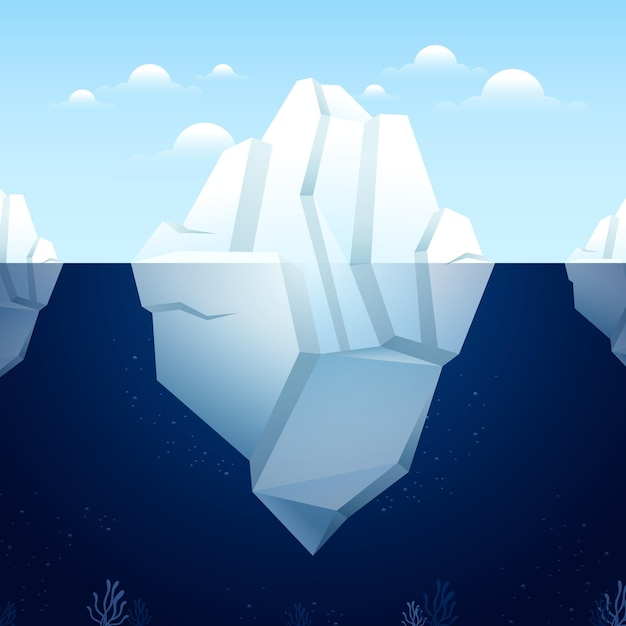 Płaska Konstrukcja Góry Lodowej Darmowych Wektorów
