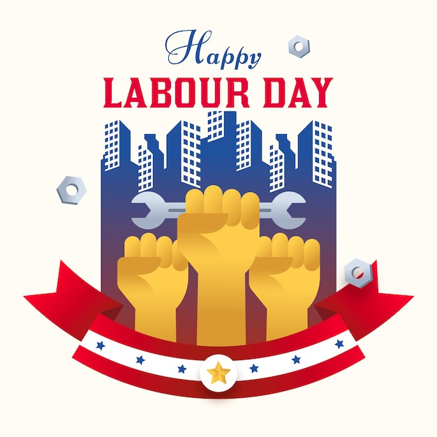 Płaska Konstrukcja Ilustracja Dzień Pracy Międzynarodowej Darmowych Wektorów