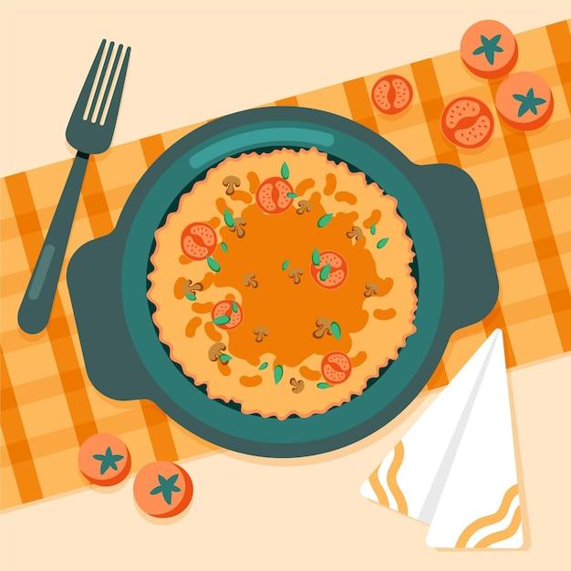 Płaska Konstrukcja Ilustracja Komfort żywności Darmowych Wektorów