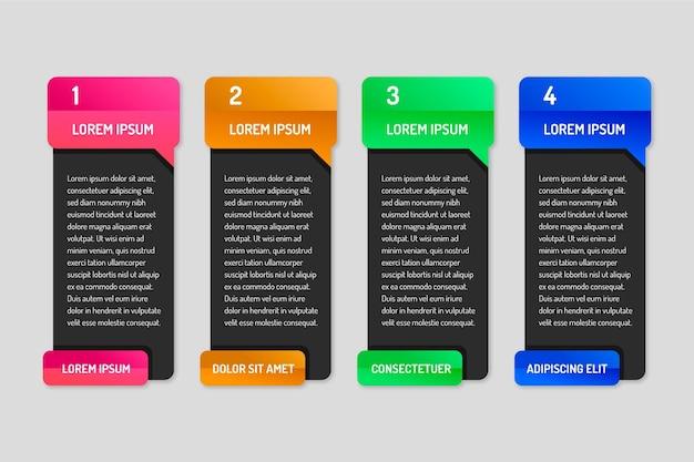 Płaska Konstrukcja Infografiki Dymki Darmowych Wektorów