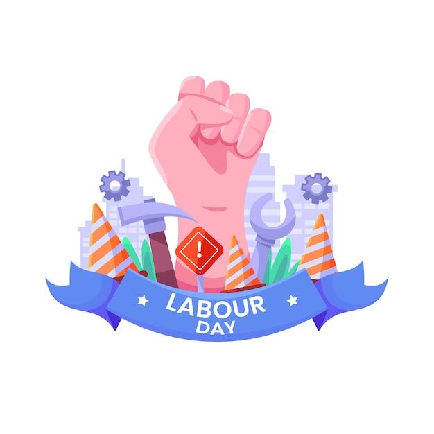 Płaska Konstrukcja Jedności Dnia Pracy Darmowych Wektorów