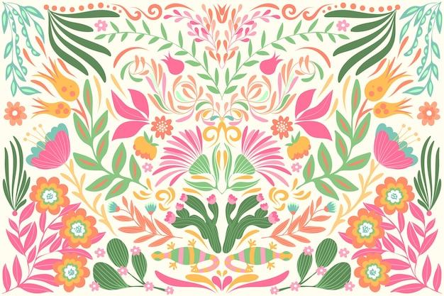 Płaska Konstrukcja Kolorowe Meksykańskie Tapety Motyw Darmowych Wektorów