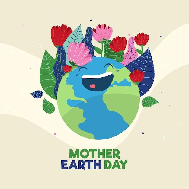 Płaska Konstrukcja Koncepcja Dzień Matki Ziemi Darmowych Wektorów