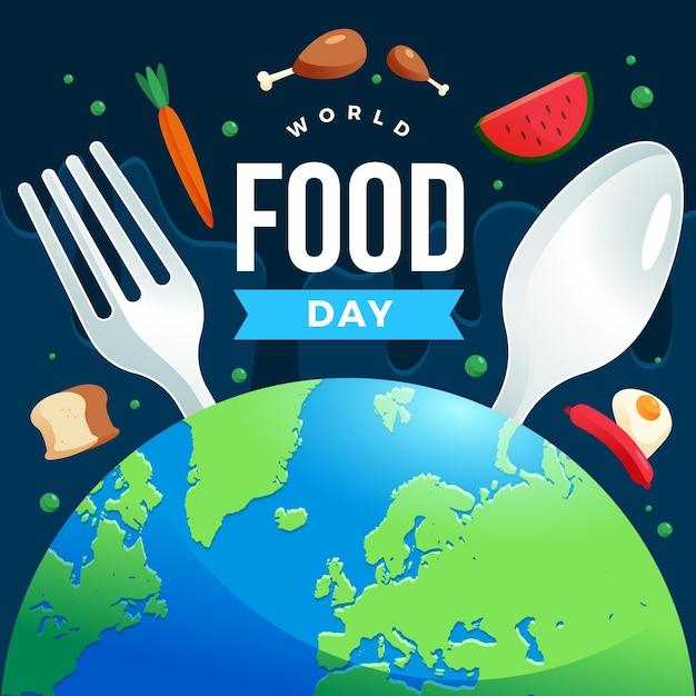 Płaska Konstrukcja Koncepcja światowego Dnia żywności Darmowych Wektorów