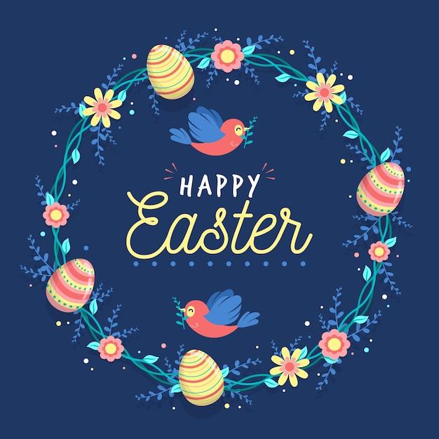 Płaska Konstrukcja Koncepcja Szczęśliwy Dzień Wielkanocy Darmowych Wektorów