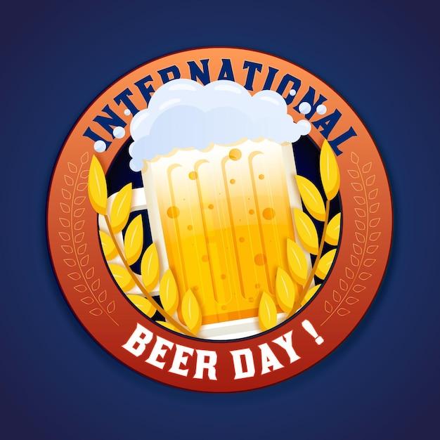 Płaska Konstrukcja Międzynarodowego Dnia Piwa Tło Darmowych Wektorów