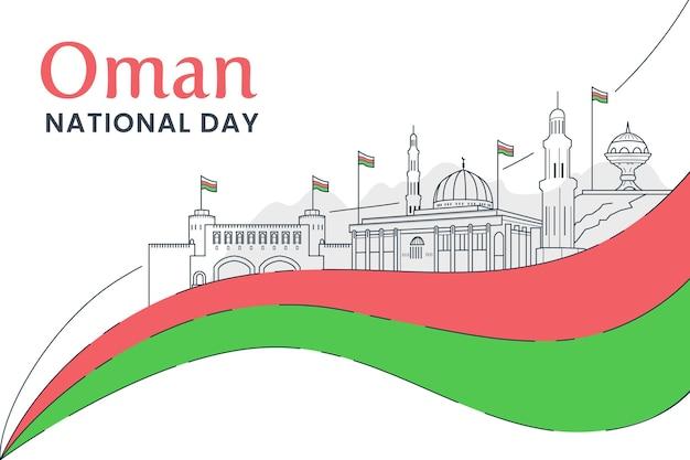 Płaska Konstrukcja Narodowego Dnia Omanu Darmowych Wektorów
