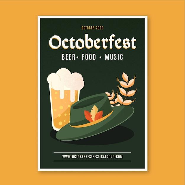 Płaska Konstrukcja Plakatu Oktoberfest Darmowych Wektorów