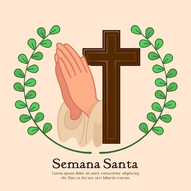 Płaska Konstrukcja Semana Santa Koncepcja Darmowych Wektorów