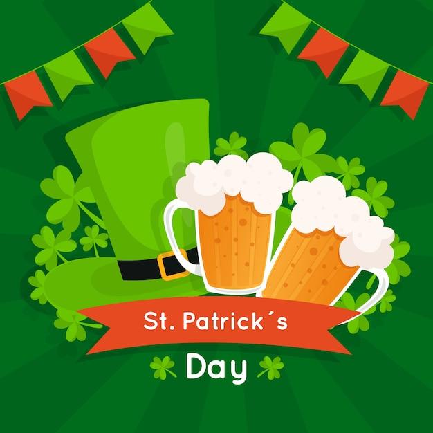 Płaska Konstrukcja St Patricks Day Koncepcja Darmowych Wektorów
