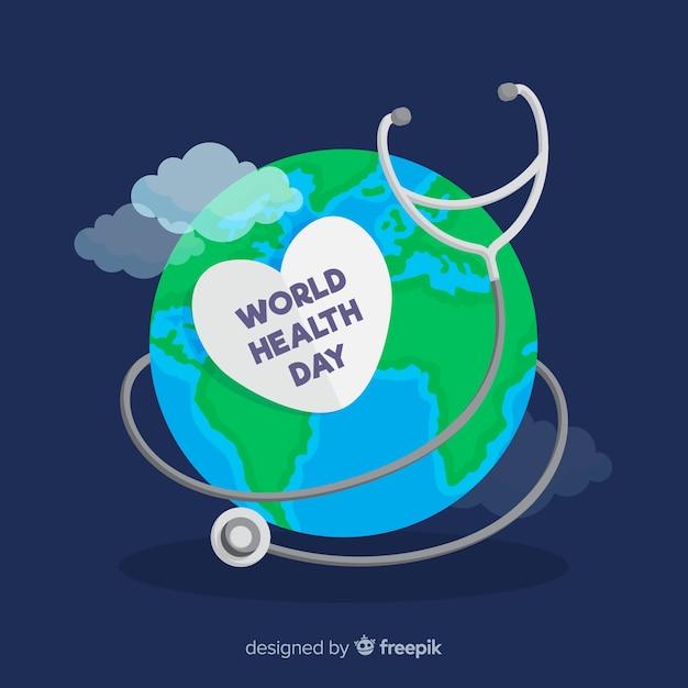Płaska Konstrukcja światowy Dzień Zdrowia Ilustracja Darmowych Wektorów