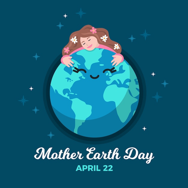 Płaska Konstrukcja Tapety Dzień Matki Ziemi Darmowych Wektorów