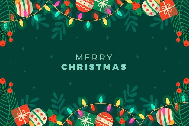 Płaska Konstrukcja Tło Boże Narodzenie Darmowych Wektorów