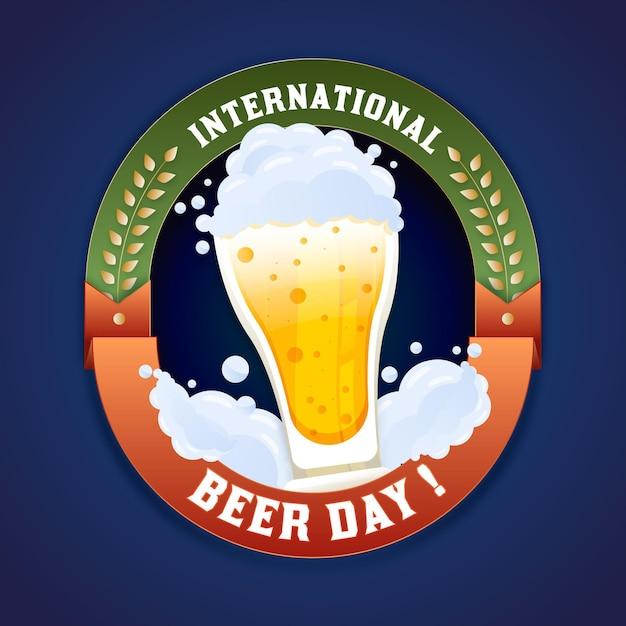 Płaska Konstrukcja Tło Międzynarodowego Dnia Piwa Darmowych Wektorów