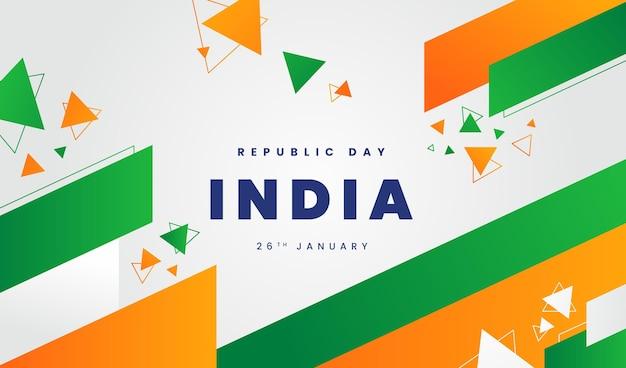 Płaska Konstrukcja Transparent Dzień Indii Premium Wektorów