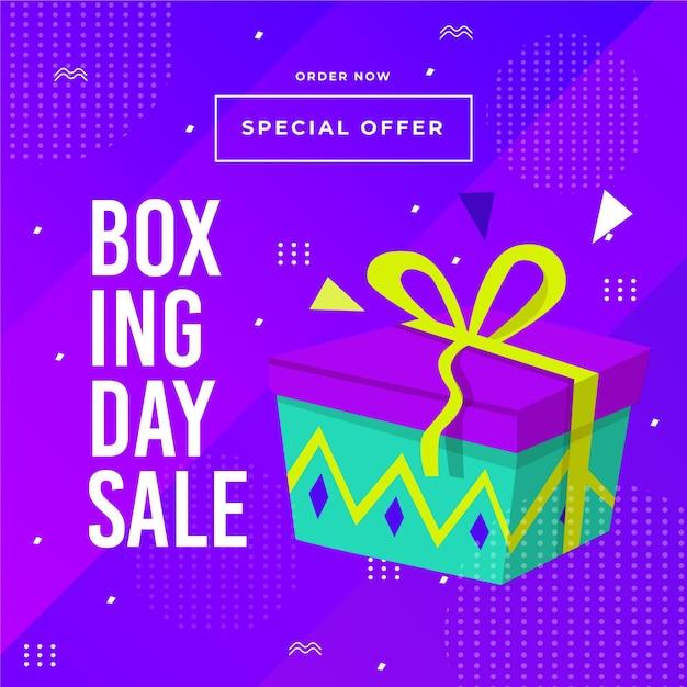 Płaska Konstrukcja Transparent Sprzedaż Boxing Day Premium Wektorów