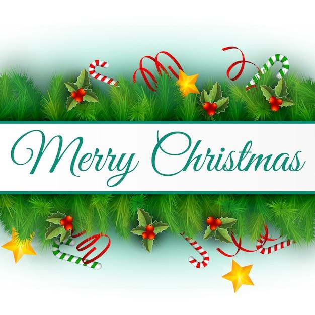 Płaska Konstrukcja Urządzone Wesołych świąt Bożego Narodzenia Ilustracji Wektorowych Karty Darmowych Wektorów