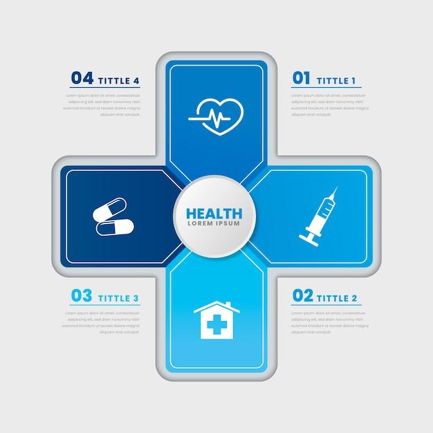 Płaska Konstrukcja Zdrowia Medycznego Szablon Infographic Darmowych Wektorów
