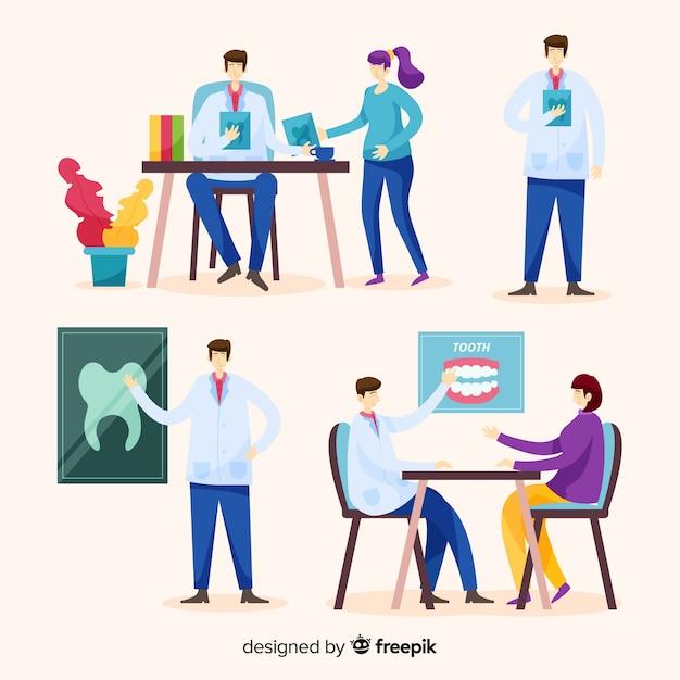 Płaski Charakter Dentysty Darmowych Wektorów