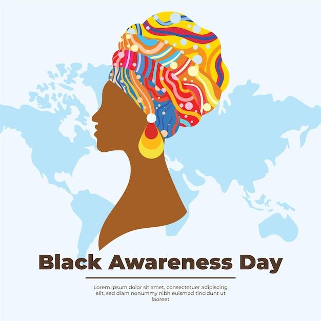 Płaski Czarny Dzień świadomości Darmowych Wektorów