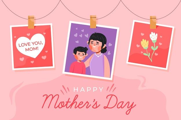 Płaski Dzień Matki Wydarzenie Darmowych Wektorów