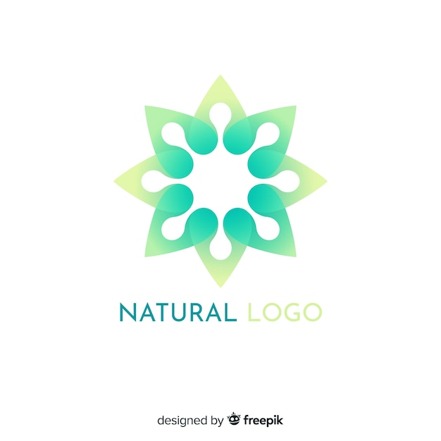 Płaski gradient charakter koncepcja logotypu Darmowych Wektorów