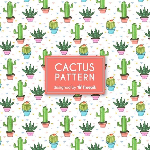 Płaski Kaktus Wzór Darmowych Wektorów