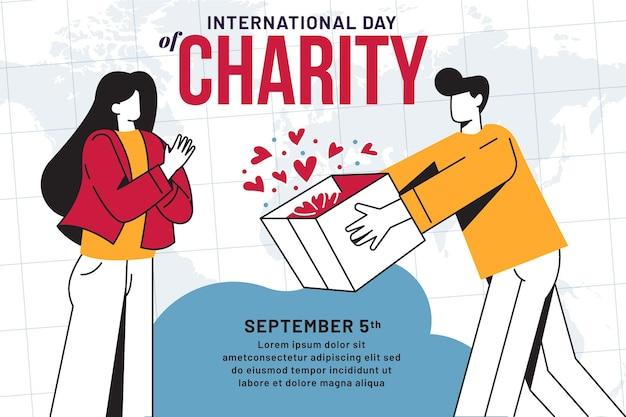 Płaski Międzynarodowy Dzień Miłości Darmowych Wektorów