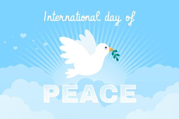 Płaski Międzynarodowy Dzień Pokoju Darmowych Wektorów