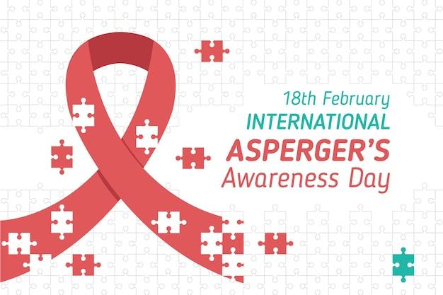 Płaski Międzynarodowy Dzień świadomości Aspergera Darmowych Wektorów