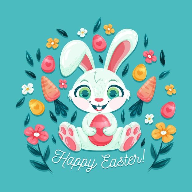 Płaski Motyw Wielkanocny Dzień Darmowych Wektorów