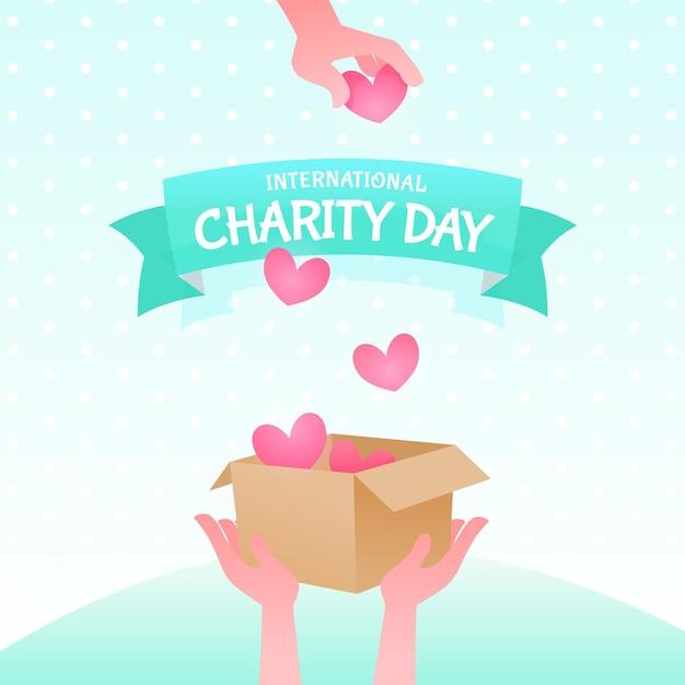 Płaski Projekt Międzynarodowego Dnia Miłości Darmowych Wektorów