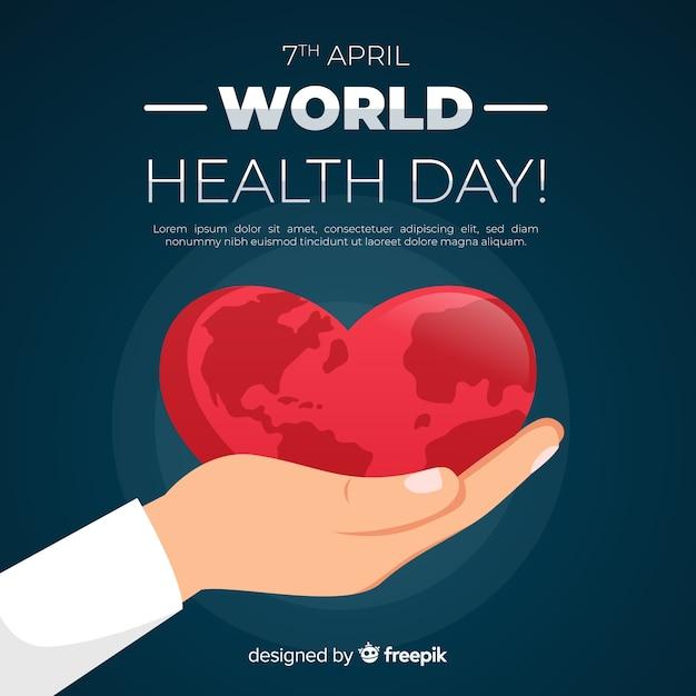 Płaski światowego zdrowia dnia tło Darmowych Wektorów