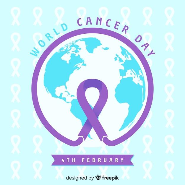 Płaski światowy Rak Dnia Tło Darmowych Wektorów
