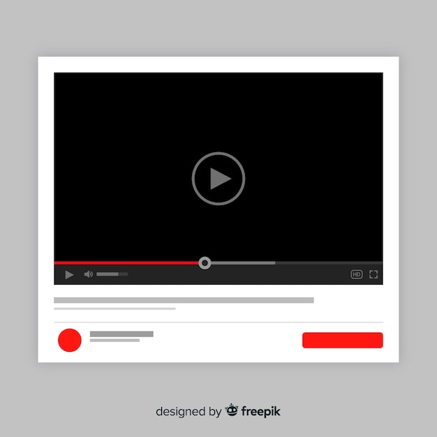 Płaski Szablon Odtwarzacza Multimedialnego Darmowych Wektorów